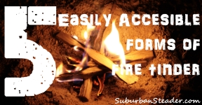 5 Easily Accessible Forms of Fire Tinder