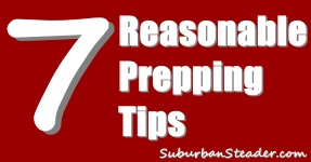 Prepping: 7 Reasonable Things You Should Do